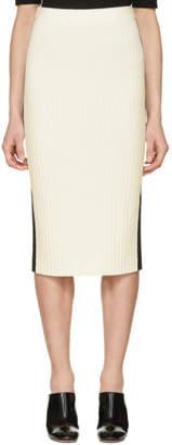 Joseph Off-White and Black Rib Knit Skirt