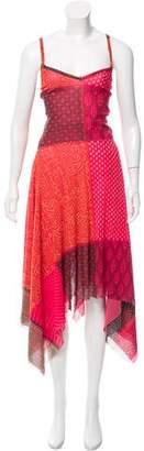 Jean Paul Gaultier Soleil Abstract Print Maxi Dress