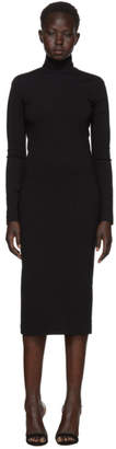 DSQUARED2 Black Compact Jersey Turtleneck Dress