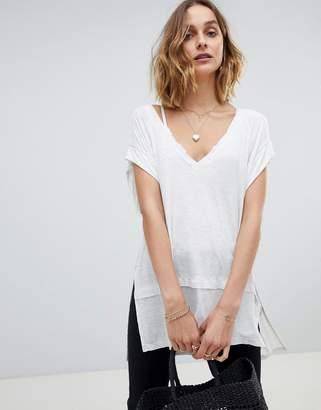 Free People Voyage v-neck t-shirt