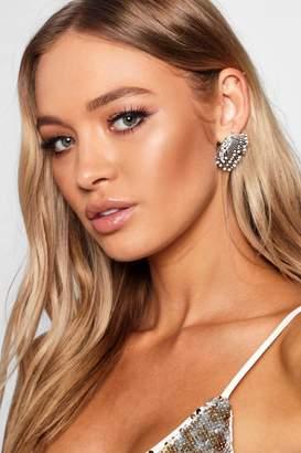 boohoo Delicate Diamante Winged Earring