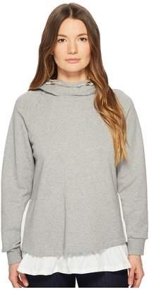 Kate Spade Athleisure Ruffle Pullover Hoodie Women's Sweatshirt