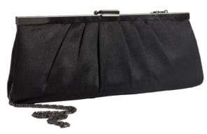 Jessica McClintock Satin Pleated Clutch