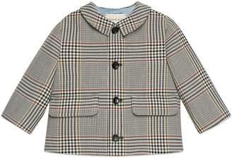Gucci Baby retro check wool jacket