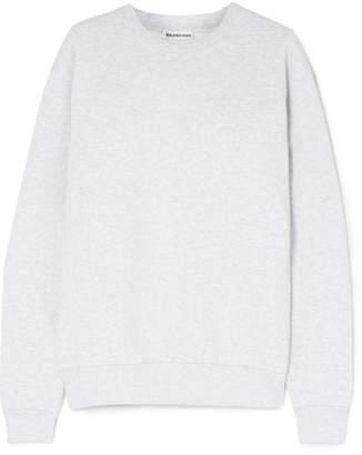 Balenciaga Embroidered Cotton-blend Jersey Sweatshirt - Gray