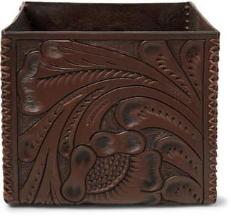 RRL - Embossed Leather Storage Box - Dark brown
