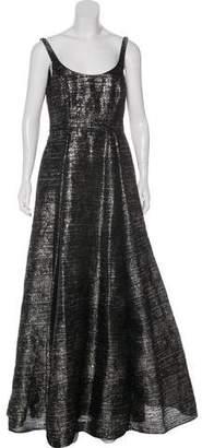 Aidan Mattox Metallic Embellished Gown w/ Tags