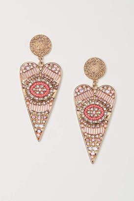 H&M Long Earrings - Pink/gold-colored - Women