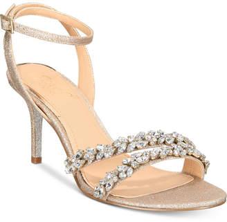 Badgley Mischka Jarrell Embellished Evening Sandals Women's Shoes