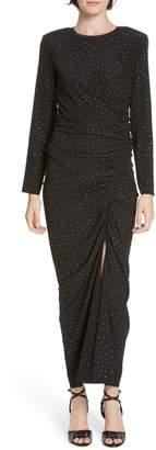 Veronica Beard Amara Rhinestone Dot Stretch Silk Dress
