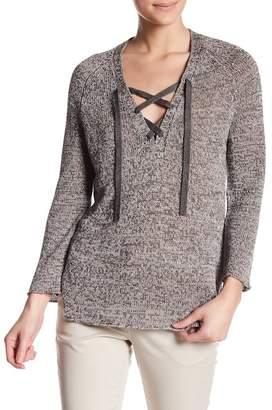 Brochu Walker Tulla Lace-Up Linen Pullover