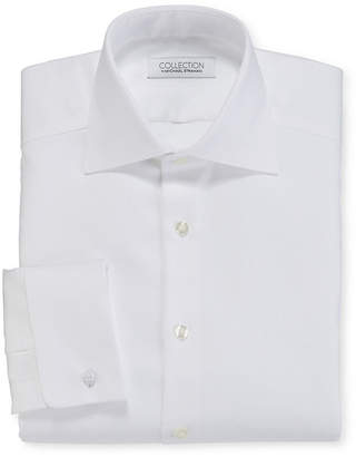 COLLECTION Collection by Michael Strahan Cotton Stretch French Cuff Tuxedo Shirt - Big and Tall