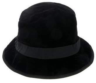 Salvatore Ferragamo Velvet Bucket Hat