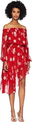 The Kooples Women's Women's Floral Print Off The Shoulder Dress with Assymetrical Hem