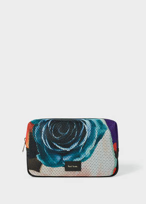 Paul Smith Men's 'Rose Collage' Print Mesh Wash Bag