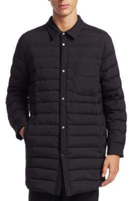 Point Collar Quilted Jacket