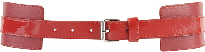 Tess Glossy Strip Belt