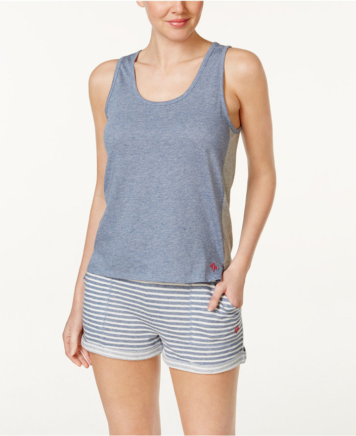 Tommy Hilfiger Tommy Hilfiger Tank Top and Striped Shorts Knit Pajama Set