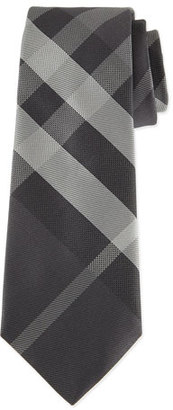 Burberry Beat Check Silk Tie, Gray $190 thestylecure.com