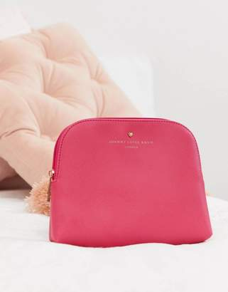 Johnny Loves Rosie pink cosmetic bag