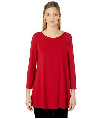 Eileen Fisher Ballet Neck Wide Sleeve Tunic