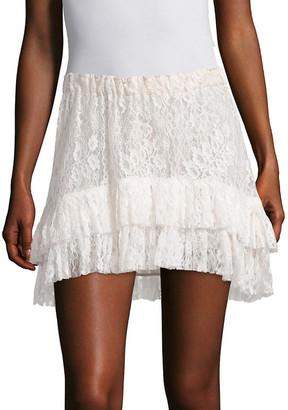 LoveShackFancy Kara Tiered Lace Skirt