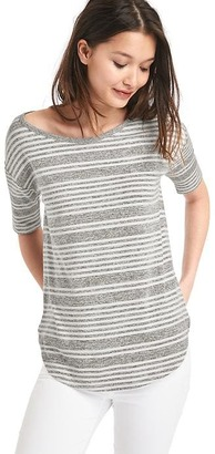 Softspun knit stripe tee $49.95 thestylecure.com
