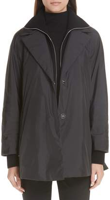 Lafayette 148 New York Arie Alpine Outerwear Jacket with Removable Knit Inset