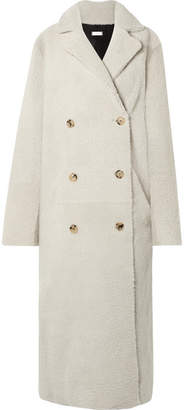 Utzon Reversible Double-breasted Shearling Coat - Off-white