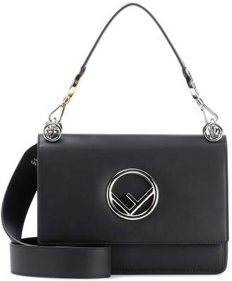 Fendi Kan I F leather shoulder bag