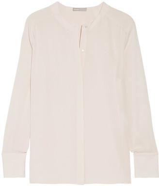 Vince - Silk Crepe De Chine Blouse - Off-white $295 thestylecure.com