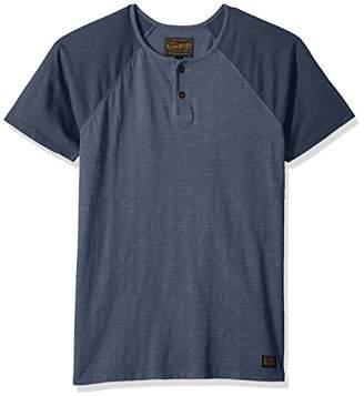 Lucky Brand Men's Colorblock Baseball Henley Tee Shirt