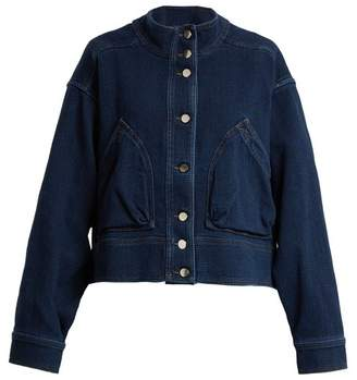 Valentino Oversized Cotton Denim Jacket - Womens - Denim