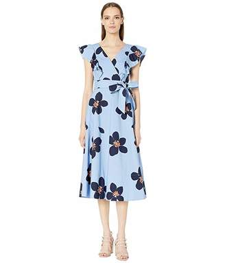 Kate Spade Grand Floral Poplin Midi Dress