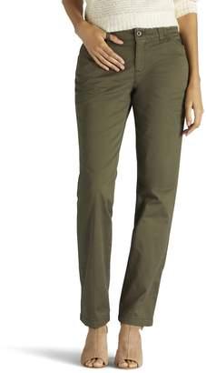 Lee Women's Slim Straight-Leg Tailored Chino Pants