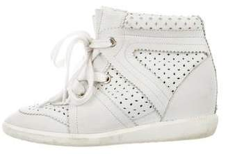 Isabel Marant Leather Wedge Sneakers
