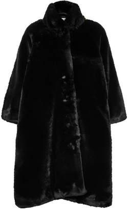 Balenciaga Faux Fur Coat - Black