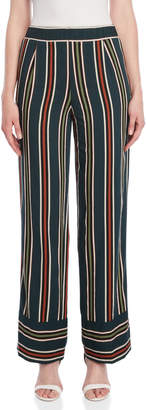 Roberto Collina Vertical Stripe Wide Leg Pants