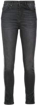 Nicole Miller side stripe jeans