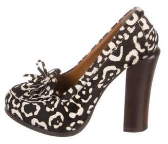 b07be0882 Fendi Ponyhair Animal Print Pumps