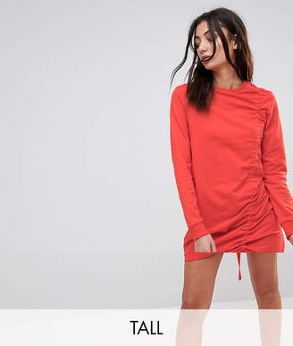 Noisy May Tall Ruched Jersey Dress