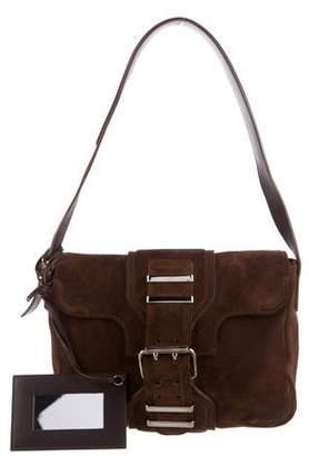 Balenciaga Suede Hook Shoulder Bag