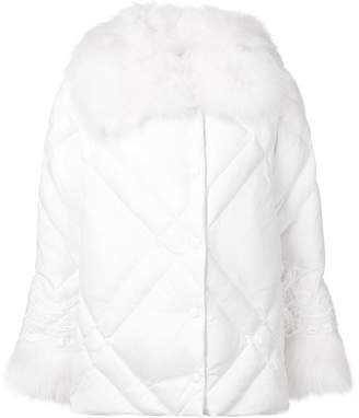 Ermanno Ermanno diamond-quilted fur coat