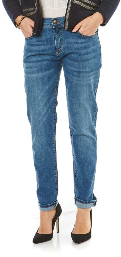Jeans mit Slimcut - stein