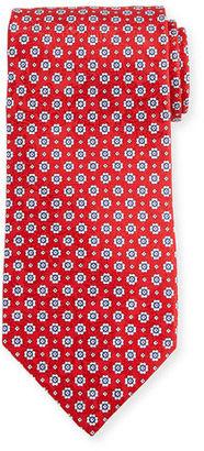 Stefano Ricci Neat Floral-Print Silk Tie $275 thestylecure.com