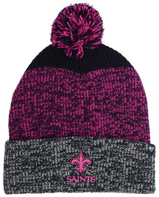 '47 New Orleans Saints Static Cuff Pom Knit Hat