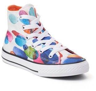 Girls' Converse Chuck Taylor All Star Floral Petals High Top Sneakers $40 thestylecure.com