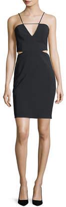 Maria Bianca Nero Melani Cutout V-Neck Mini Dress