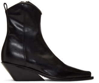 Ann Demeulemeester Black Wedge Ankle Boots