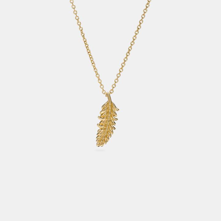 Coach  COACH Coach Mini Feather Necklace